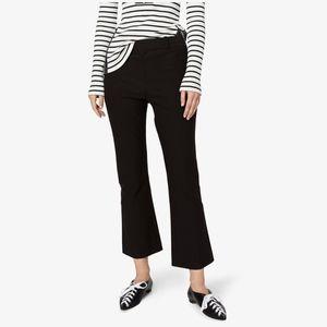 NWT Derek Lam Cropped Flare Pants Trousers 0 Black